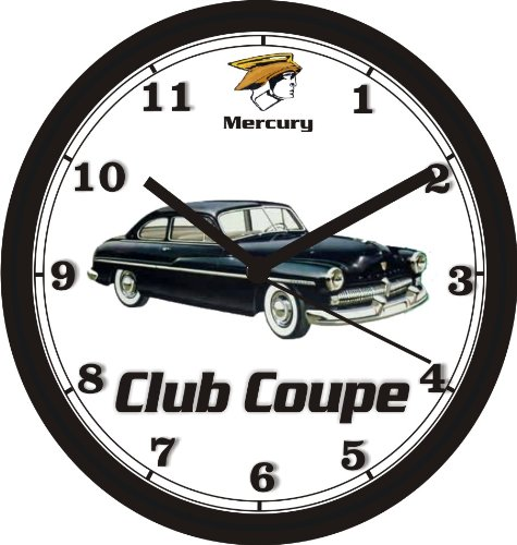 1949 MERCURY CLUB COUPE WALL CLOCK-Free USA ()