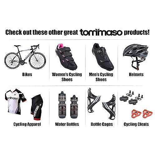 9705702c250018 41 Black/Blue SPD tommaso Pista Womens Spin Class Ready Cycling Shoe