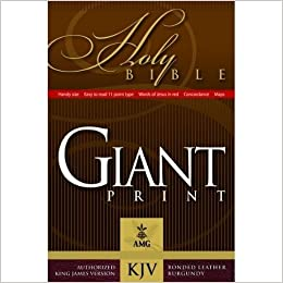 Giant Print Handy-Size Reference Bible: KJV Edition (AMG