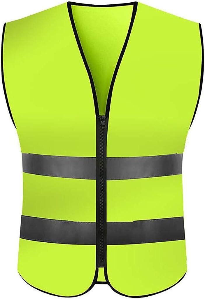 Muranba High Visibility Running Reflective Vest Security Equipment Night Work Tops