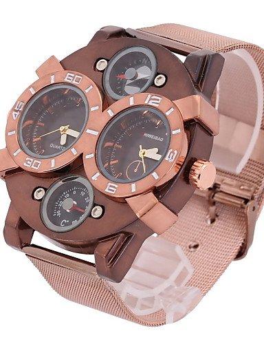 Reloj de pulsera de doble de los husos horarios en el mundo de la moda de