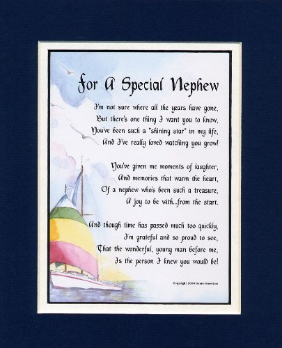 Nephew Poem - Nephew Verse - Nephew Print - Nephew Graduation - Nephew Birthday - Favorite Nephew -
