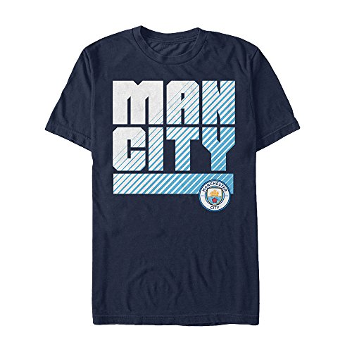 [Manchester City Football Club Man City Fade Mens Graphic T Shirt] (Football Club Cotton)