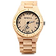 Amazon Lightning Deal 83% claimed: Gearbest Bewell ZS - W065A Lightweight Vintage Wooden Watch Men Quartz Luminous Pointers Watch