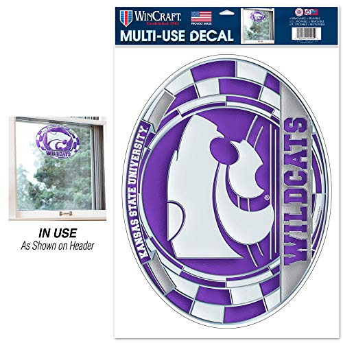 WinCraft NCAA Kansas State University Multi-Use Decal Stained Glass