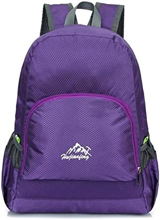 SENDRY Camouflage pattern folding backpack climbing waterproof bag Purple travel and camping