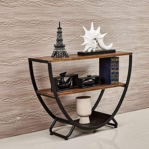 Taille : 90 * 26 * 70Cm Support de Fleur en Fer forg/é Table de Console en Bois Massif de Style europ/éen Entr/ée Salon de Table en /étain de Salon Taiwan /Étag/ère