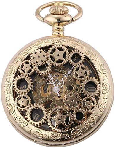 レトロなフリップ機械式懐中時計ローマンスケールメンズポケットウォッチネックレスジュエリー表学生の創造性、色名:1 (Color : 6)