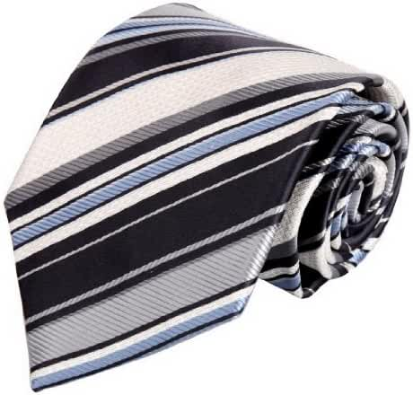 FAA3A1 Mens Stripes Classic Best Gifts Warehouse Woven Silk Tie Set By FashionOn