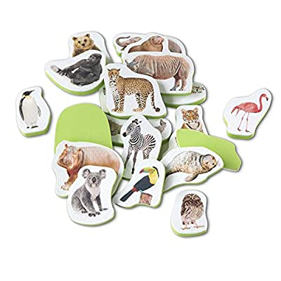 Melissa & Doug Tub Stickables – Wild Animals (Soft Shapes Bath Toy, 20 Foam Pieces, Great Gift for Girls and Boys - Best for Babies and Toddlers, 4 Month Olds, 1 and 2 Year Olds): Toys & Games