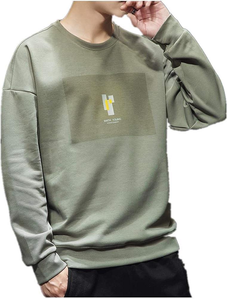 UJMN Mens Clothes Korean Trend Long Sleeve T-Shirt for Men
