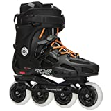 Rollerblade Twister 80 Twincam ILQ 7 Plus Bearings Inline Skates, Black/Urban Orange, US Men's 9