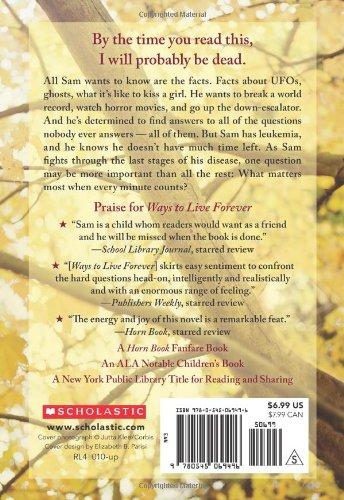 Ways To Live Forever Sally Nicholls 9780545069496 Amazon Books