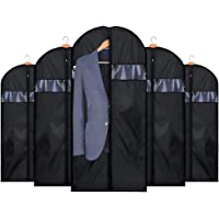 HOUSE DAY 5 Pack 42 inch Garment Bag Lightweight Oxford Fabric Suit Bags Moth-Proof Study Zipper Closet Storage Travel…