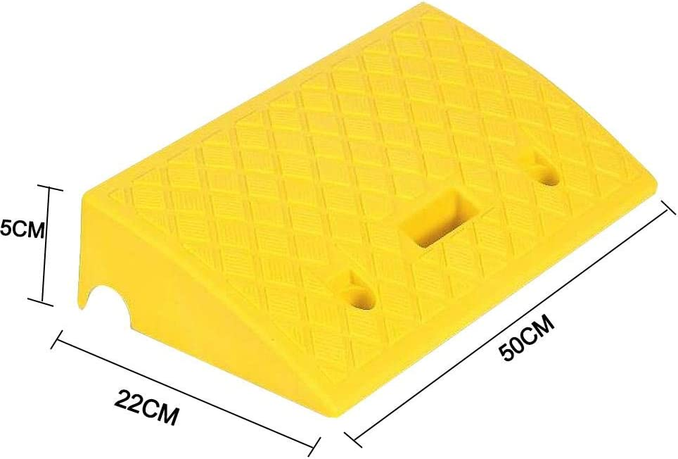 delibett 2PCS Curb Ramps Rubber Kerb Ramps For Wheelchairs Mobility Scooters Car Motorcycle Heavy Duty Rubber Kerb Ramps For Driveway Sidewalk Loading Dock