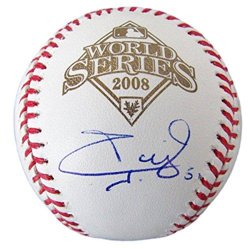 Carlos Ruiz Phillies 2008 World Series Autographed/Signed Baseball JSA 136098