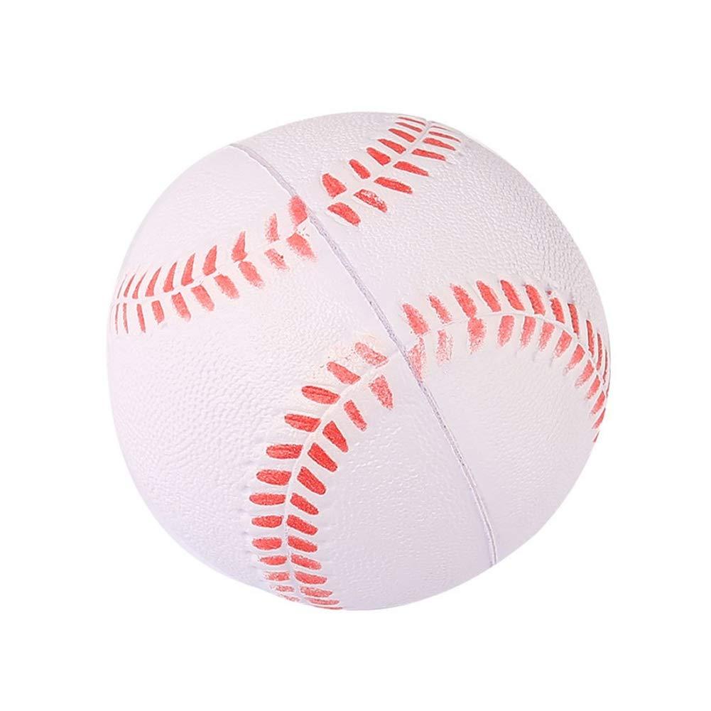 Balight 1pcs White Safety Kid Baseball Base Ball Practice Trainning PU Chlid Softball Balls Sport Team Game