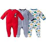 Gerber Onesies Baby Boy Sleep N' Play Sleepers 3 Pack Dinosaur