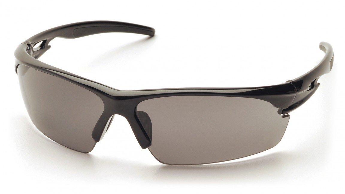Pyramex Ionix Safety Glasses, Black Frame/Gray Lens