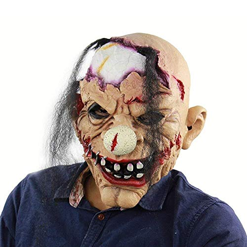 Scary Clown Mask Teeth Eyes - Scary Latex Mask Zombie Clown Horror