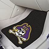 Fanmats Front Vehicle Mats w Official East Carolina University Team Colors & Logo - Set Of Two
