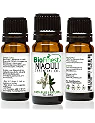Biofinest Niaouli Essential Oil - 100% Pure Organic Therapeutic Grade - Best for Aromatherapy, Skin Care, Ease Stress Headache Acne Wounds Scars Muscle Arthritis Joint Pain - FREE E-Book (10ml)