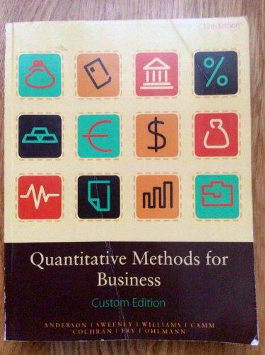 Quantitative Methods for Business Custom Edition - Pace University