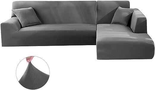 Jetcloud Sofa cover L shape Sofa Slipcover Anti slip Soft Elastic Polyester Machine Washable Corner Coach Covers Sectional Sofa Furniture Protector