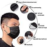 10pcs/Pack Black Disposable Face Masks Breathable