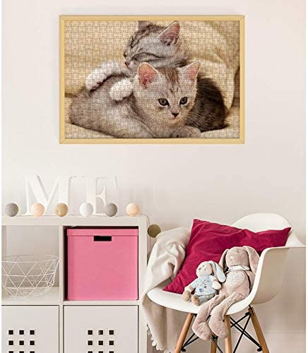 Pet Jigsaw Cute Kitten Puzzle 500/1000/1500 Piece - speciale gave for Cat Pet Lovers Vaderdag en Holiday Gift - Grote puzzel spel interessant Toys ( Size : 1500 pcs ) U5EfJP9q