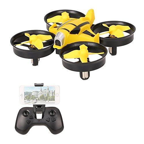 Mambo 2 Person (VOLTZ RC UFO Quadcopter Mini Drone with HD Camera, 2.4GHz 4 Channel 6 Axis Gyro with Altitude Hold and WIFI FPV- BONUS BATTERY INCLUDED (Yellow))