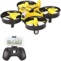 VOLTZ Mini Quadcopter UFO Drone with HD Camera, Altitude Hold and WIFI FPV, suitable for begginers and kids - BONUS BATTERY INCLUDED (Yellow)