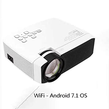 Proyector LED, Android 7.1, Compatible con 1080p, Compatible con ...
