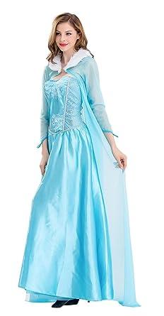 TOKYO-T Elsa Costume Women Snow Queen Dress Halloween (US4)  sc 1 st  Amazon.com & Amazon.com: TOKYO-T Elsa Costume Women Snow Queen Dress Adult ...