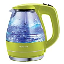 Ovente KG83G 1.5 Liter BPA Free Glass Cordless Electric Kettle, Green