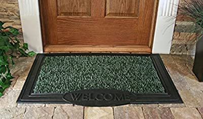 "GrassWorx Clean Machine Big Welcome Doormat, 24"" x 36"", Evergreen (10372051)"