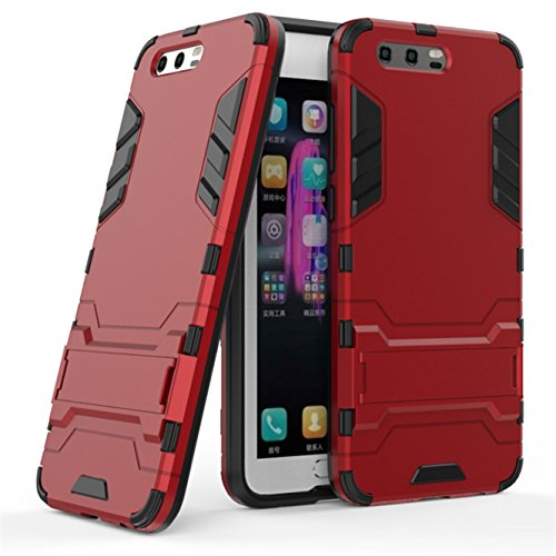 Price comparison product image Huawei Honor 9 Case, Enjoy Sunlight - High Impact Resistant Dual Layer Armor Holster With Stand Defender Full Body Protective Hybrid Armor Case Huawei Honor 9[Burgundy]