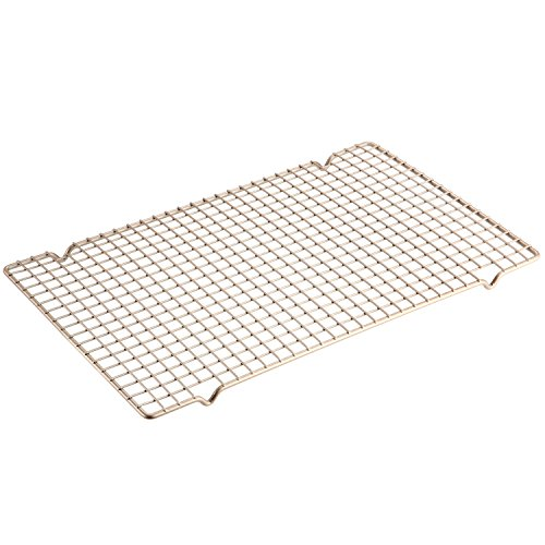 Cooling Rack, 16-Inch Non-stick Bold-Grid Design Carbon Steel Wire Rack, FDA Approved for Oven Baking 16.3