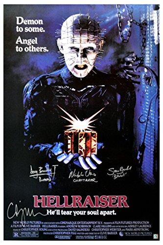 Clive Barker, Doug Bradley & Hellraiser Cast Autographed 27x40 Movie Poster (Hellraiser Autographed Poster)