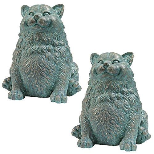 Design Toscano Phat Cat Statue, Multicolored