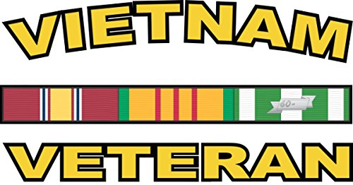 Vietnam Window - Military Vet Shop US Army Vietnam Veteran Vinyl Transfer Window Bumper Sticker Decal 3.8