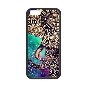 "Customized Unique Design Cell Phone Case for iPhone6 Plus 5.5"" - Elephant Aztec Phone Case"