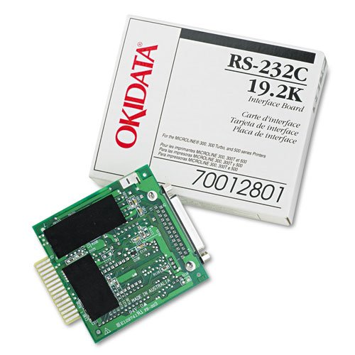 Oki Products - Oki - Internal RS-232C Interface for Okidata Microline ML-320/321/520/521/590/591 - Sold As 1 Each - Supports Ready/Busy/X-On/X-Off protocols - Compatible with ML320/321/390/391/420/421/490/491/520/521/590/591 series printers. - Can be configured through the Menu or OKISMART Utility Program.