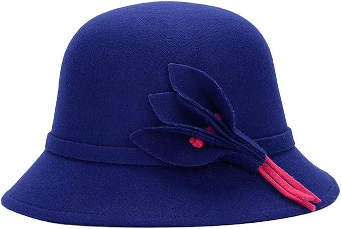 Sombreros para Mujer Vintage Sombrero De Fieltro Elegante Invierno ...