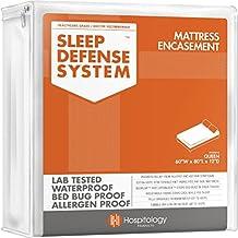 "The Original Sleep Defense System - Waterproof / Bed Bug / Dust Mite Proof - PREMIUM Zippered Mattress Encasement & Hypoallergenic Protector - 60-Inch by 80-Inch, Queen - Standard 12"""
