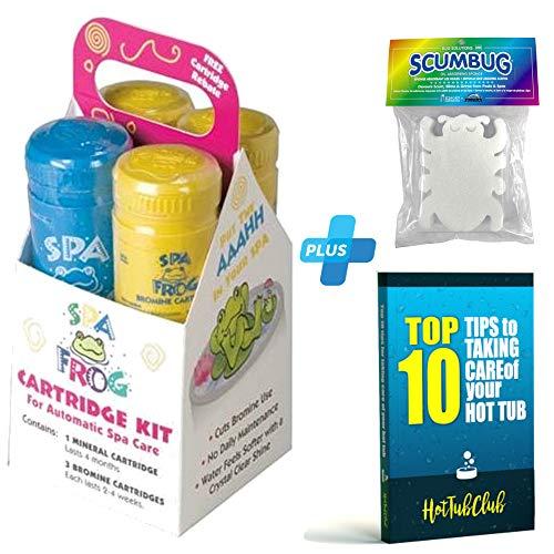 - HotTubClub King Technology SPA Frog Serene Cartridge Kit, Bundled Floating ScumBug Oil Absorber & 2002 eBook