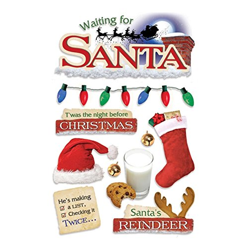 Paper House Productions STDM-0093E 3D Cardstock Stickers, Waiting for Santa ()
