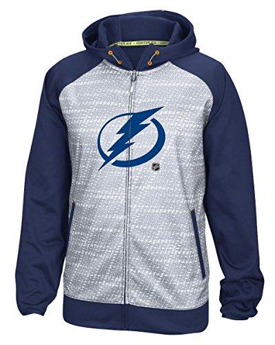 [Tampa Bay Lightning Reebok NHL 2016 Center Ice Speedwick Full Zip Sweatshirt] (Lightning Full Zip Hoodie)