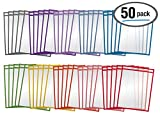Dry Erase Pocket Sleeves, 50 Count, Crystal