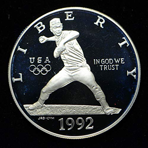 1992 S Olympic Baseball Commemorative Silver Dollar $1 Proof US Mint
